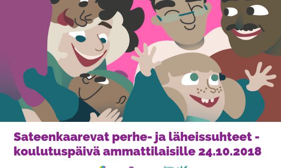 Sateenkaarevat perhe- ja läheissuhteet -koulutuspäivä ammattilaisille 24.10. Helsingissä