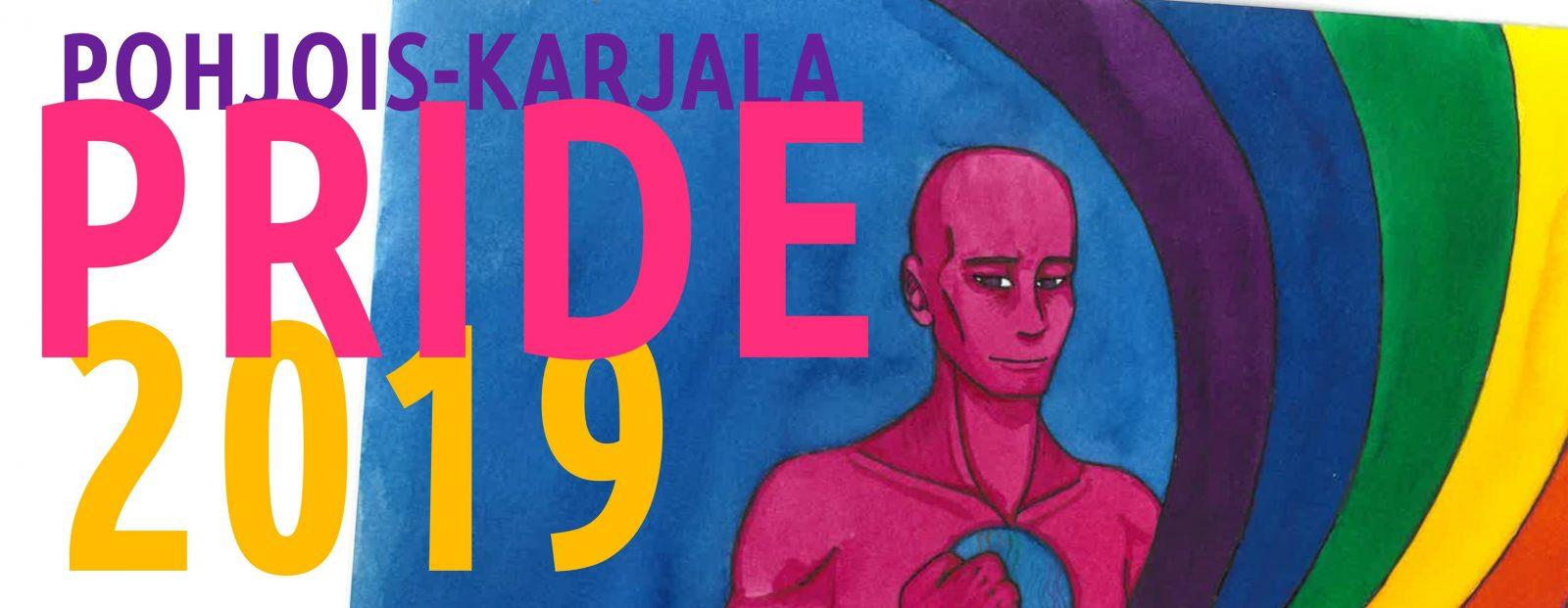 Kuvassa on Pohjois-Karjala Pride 2019:n tunnus
