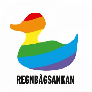 Kuvassa on Regnbågsankan rf:n tunnus.