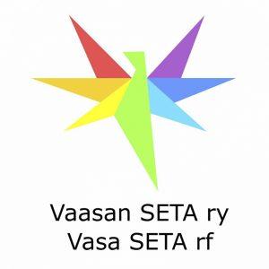 Kuvassa on Vaasan Seta ry:n tunnus.