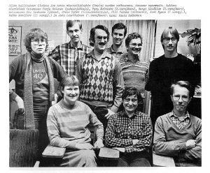 Setan hallitus (pj. Tarja Halonen) lehtikuvassa vuonna 1980.