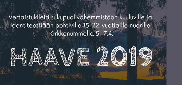 Nuorten HAAVE 2019 -leiri tulossa keväällä