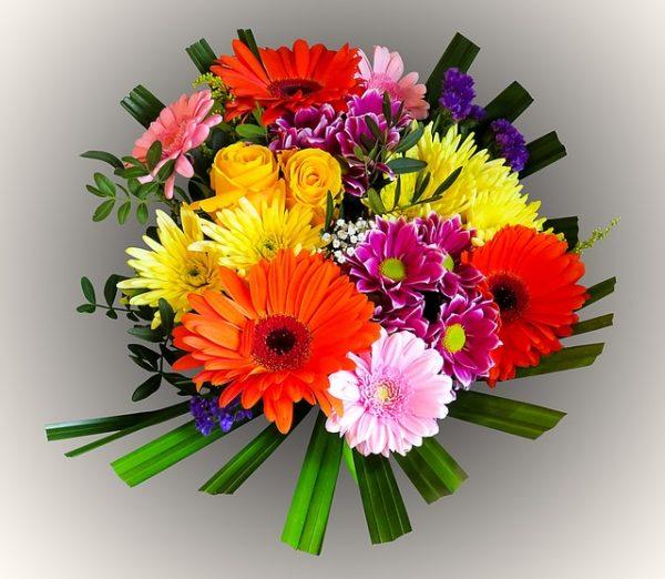 Kuvassa on kukkakimppu