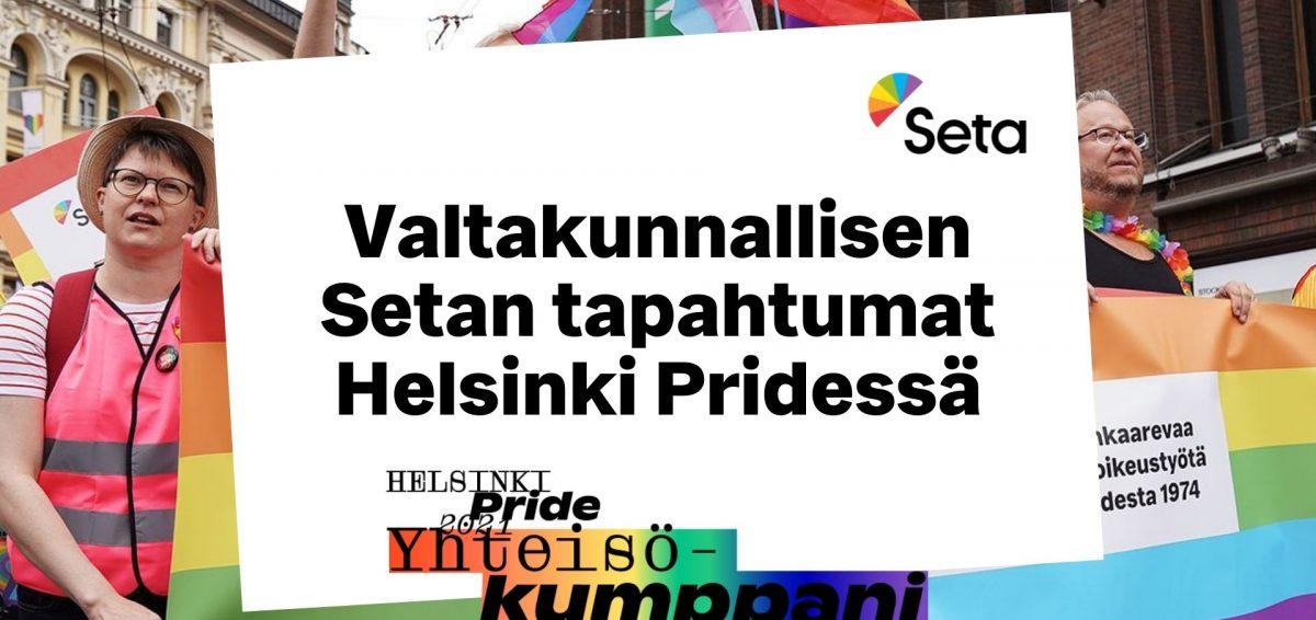 Kuvassa on Setan blokki Helsinki Pride marssilla Stockmannin edessä.